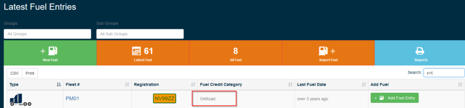 Gearbox - Fuel Credit - Step 5