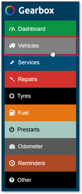 Vehicles section button
